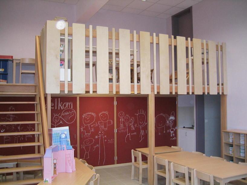 Schrijnwerkerij Laureyns inrichting kleuterschool
