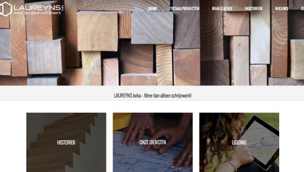 Nieuwe website voor Schrijnwerkerij Laureyns